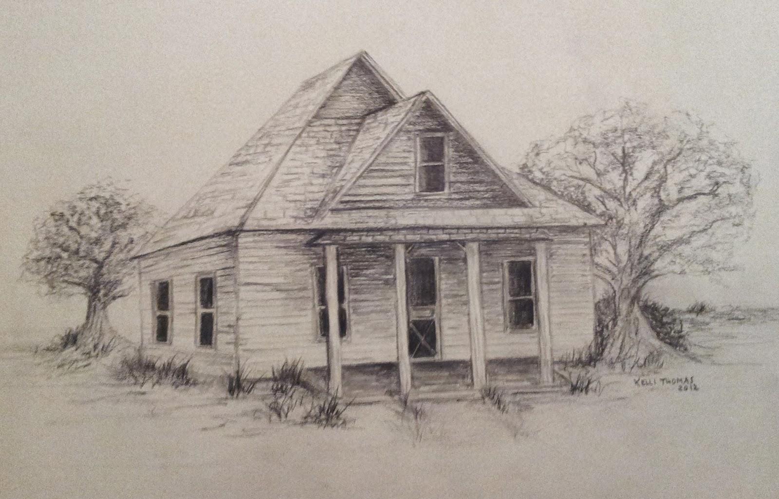 Barn And Windmill Drawings