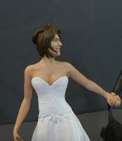 statuine matrimonio sposi personalizzati ritratto sposa regalo sposi orme magiche