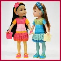 Conjunto muñequitas a crochet