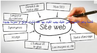 قائمة باهم الأشياء التي عليك يجب القيام بها عند انشاء موقع او مدونة جديدة