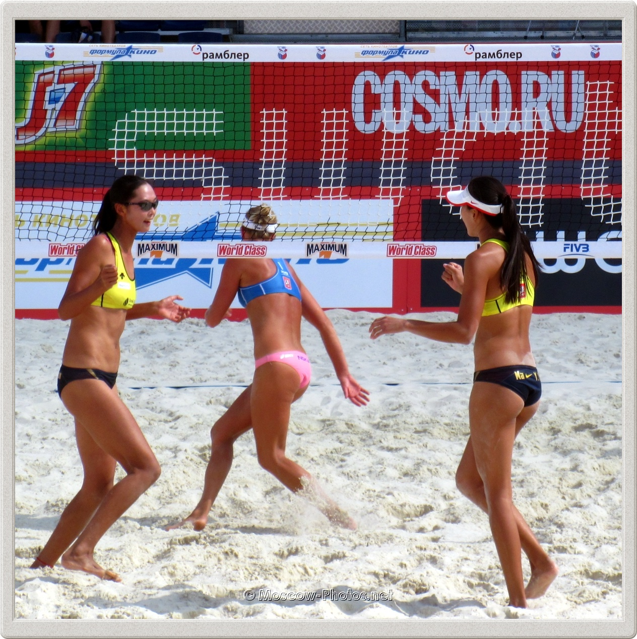 Beach Volleyball Players Wang Fa & J.J. Ma