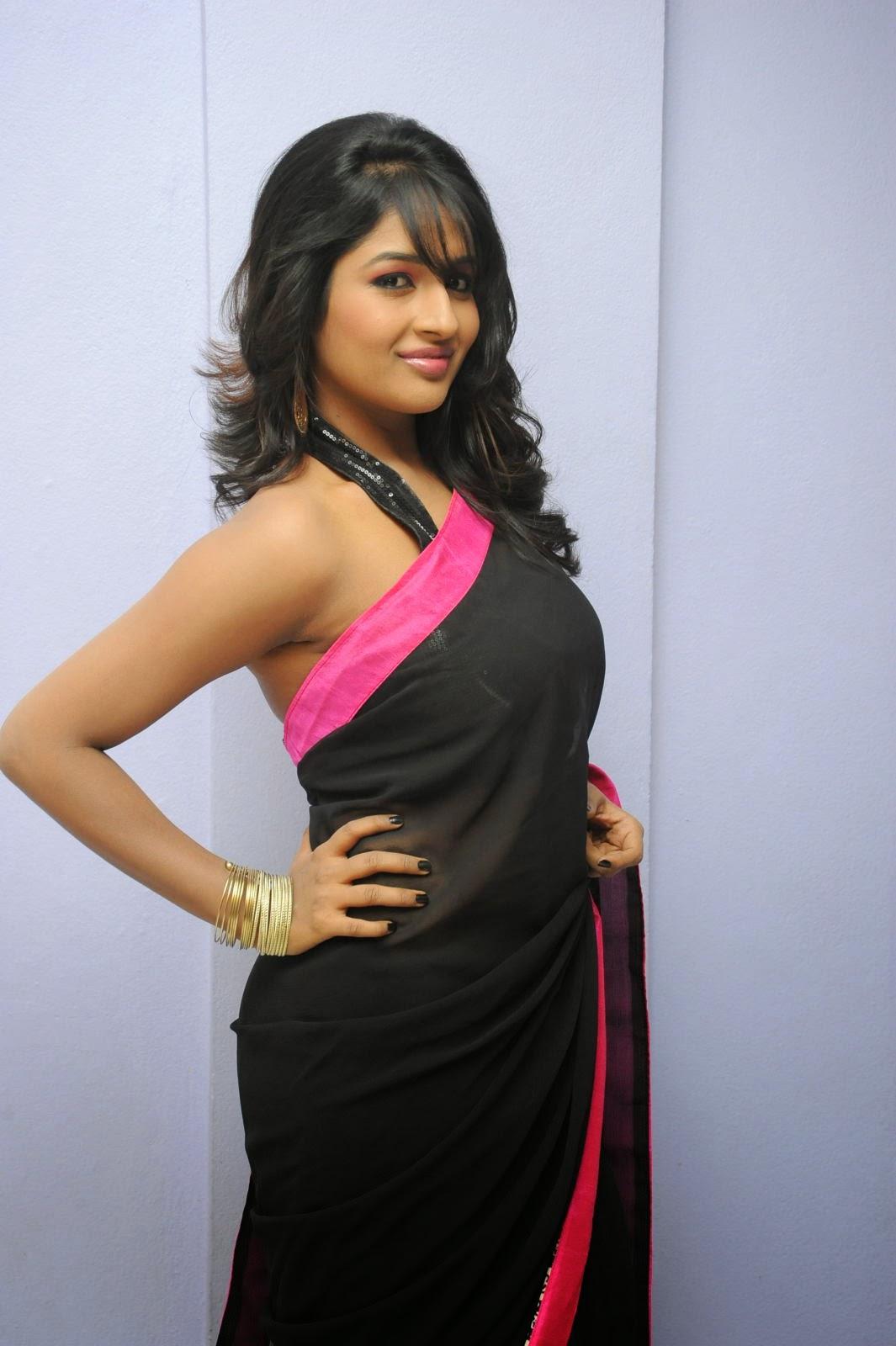 Isha Ranganath glam pics in saree-HQ-Photo-19