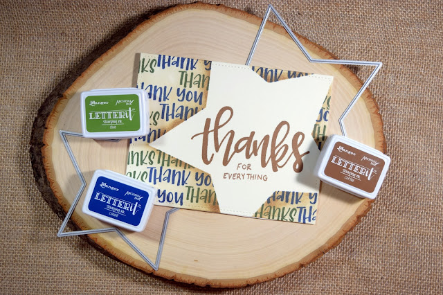 Masculine Card by Jess Crafts using Ranger Letter It Line