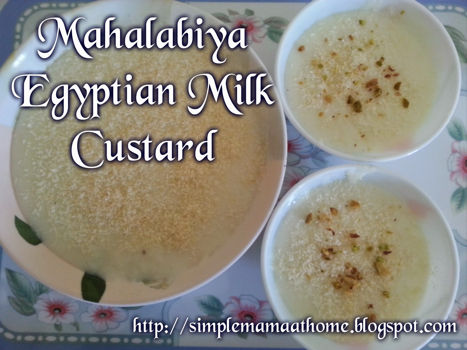 Mahalabiya Egyptian Milk Custard