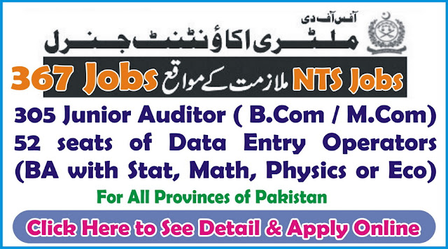 obs of Junior Auditor in Military Accounts Pakistan