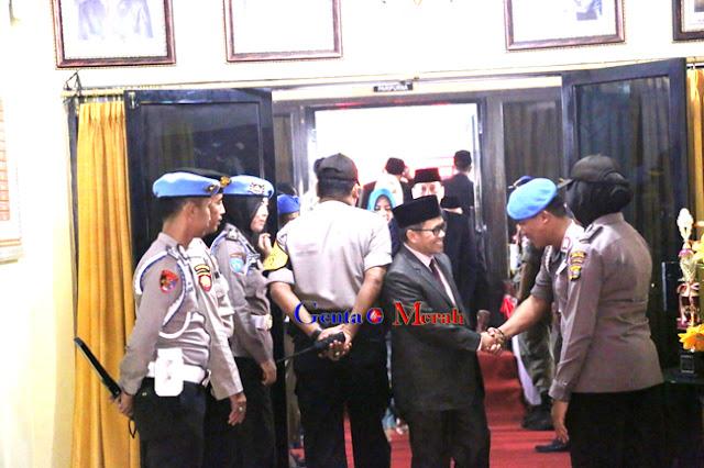 Sidang Istimewa Penyampaian Visi Misi Bupati Lampura, Polres Kerahkan 280 Personil
