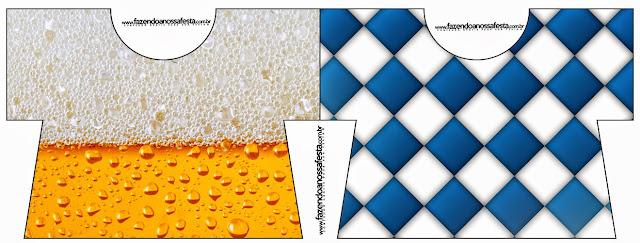 Tarjeta con forma de camisa de Fiesta de la Cerveza.