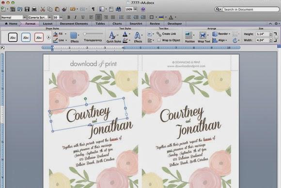 Plantilla Invitacion Boda Word Plantilla Invitacion Boda Word With - invitaciones de boda gratis