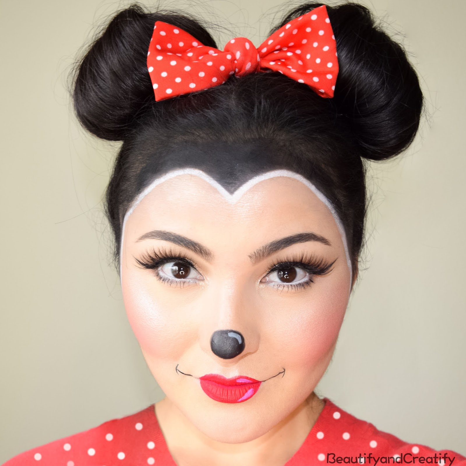 Beautify Creatify Minnie Mouse Makeup Hair