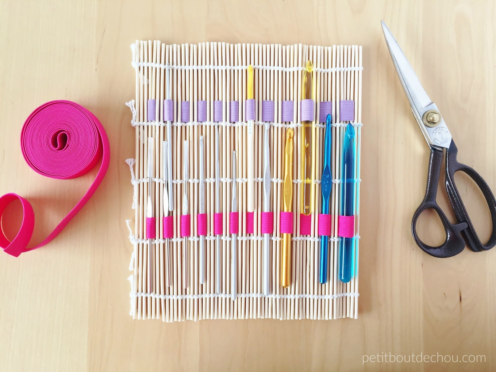 Diy 10 Minute Inexpensive Crochet Hook Holder With Bamboo