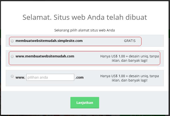 Cara Membuat Website Gratis Cepat di Simple Site