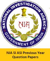 NIA SI ASI Previous Year Question Papers