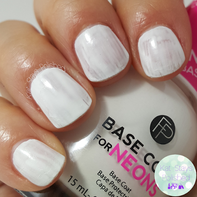 FingerPaints New Feb 2016 Shades - Neon Base Coat | Kat Stays Polished
