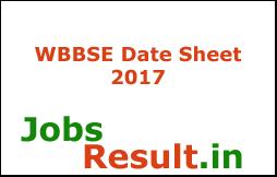 WBBSE Date Sheet 2017