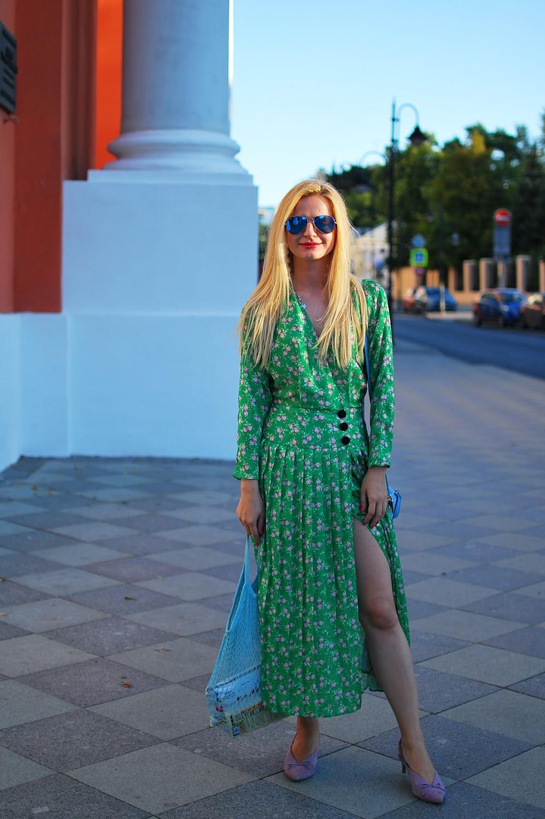 винтажное платье в цветок с чем носить летом
