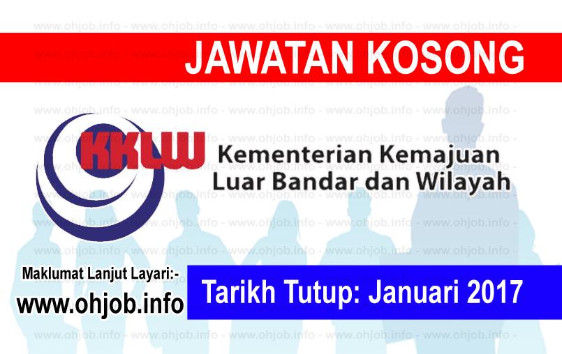 Jawatan Kerja Kosong Kementerian Kemajuan Luar Bandar dan Wilayah (KKLW) logo www.ohjob.info januari 2017