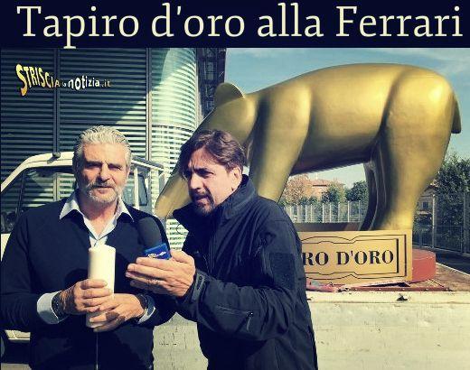 E alla fine la Ferrari si becca il Tapiro d'Oro di Striscia la Notizia