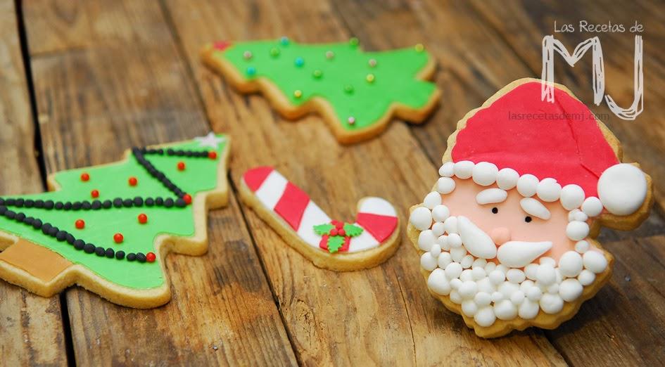 Galletas De Navidad Decoradas Con Fondant Las Recetas De Mj