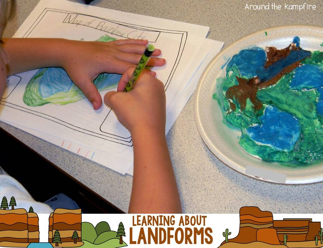 Landforms creative writing project~Making maps of our islands.