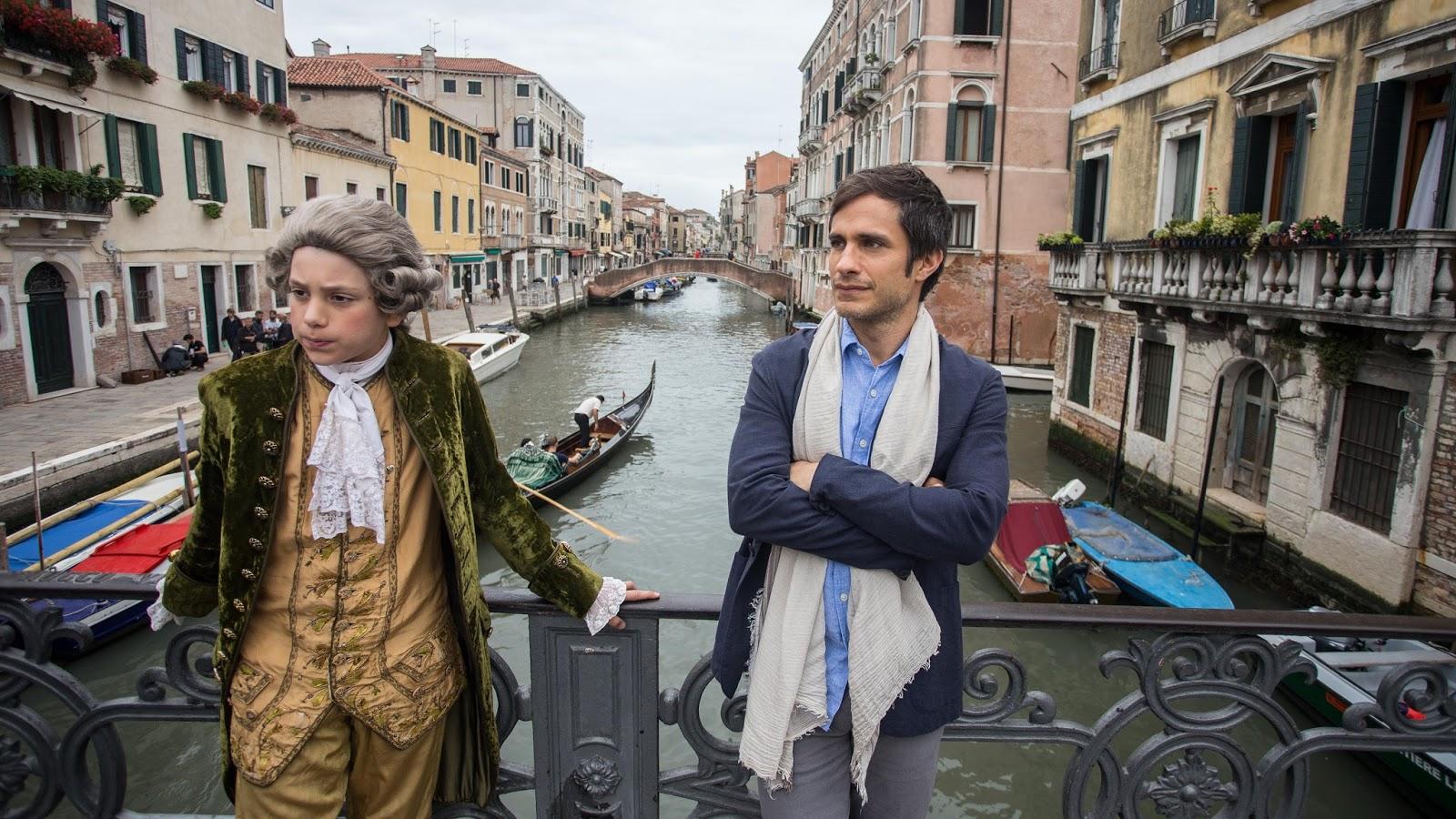 Rodrigo recibe la visita del compositor Mozart durante su estancia en Venecia