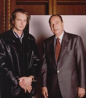 Klaus Guingand and Jacques Chirac - 1995