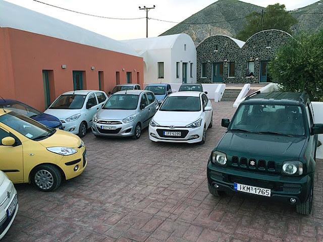 Locadoras de carro em Santorini
