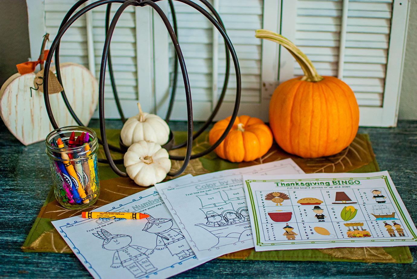 TeacherSherpa Educational Thanksgiving Printables For The Kids Dinner Table