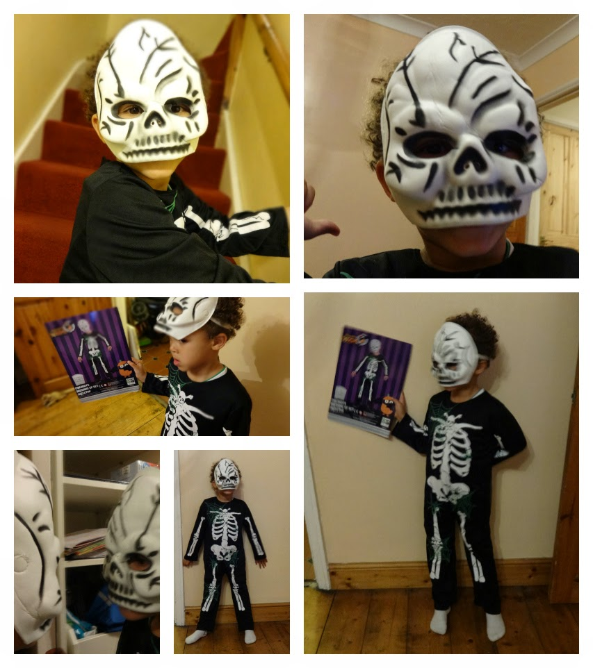 Aldi Skeleton Costume in age 5 to 6 years