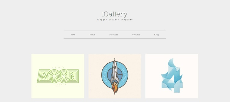 iGallery Photos and Wallpapers Blogger Template