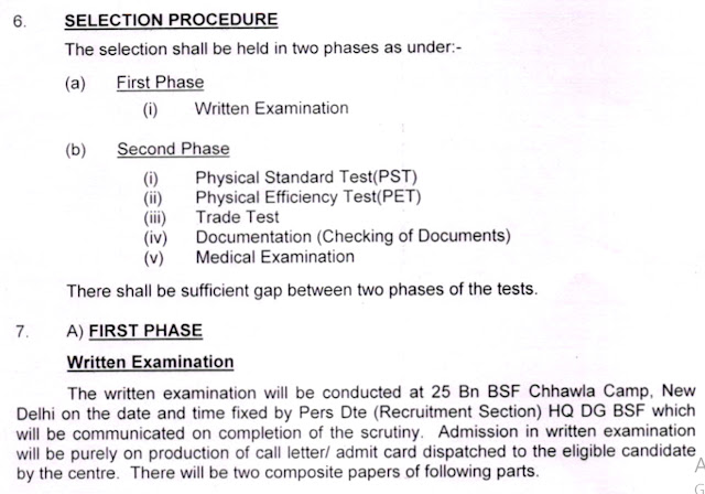 BSF Selection Process