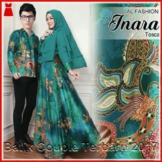 3PTH Jual Batik Berkualitas Model Inara Modern Tosca Bj3003