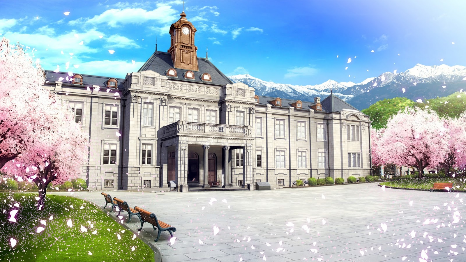 Pictures Of Home Office Library Anime Landscape Palace Anime Background