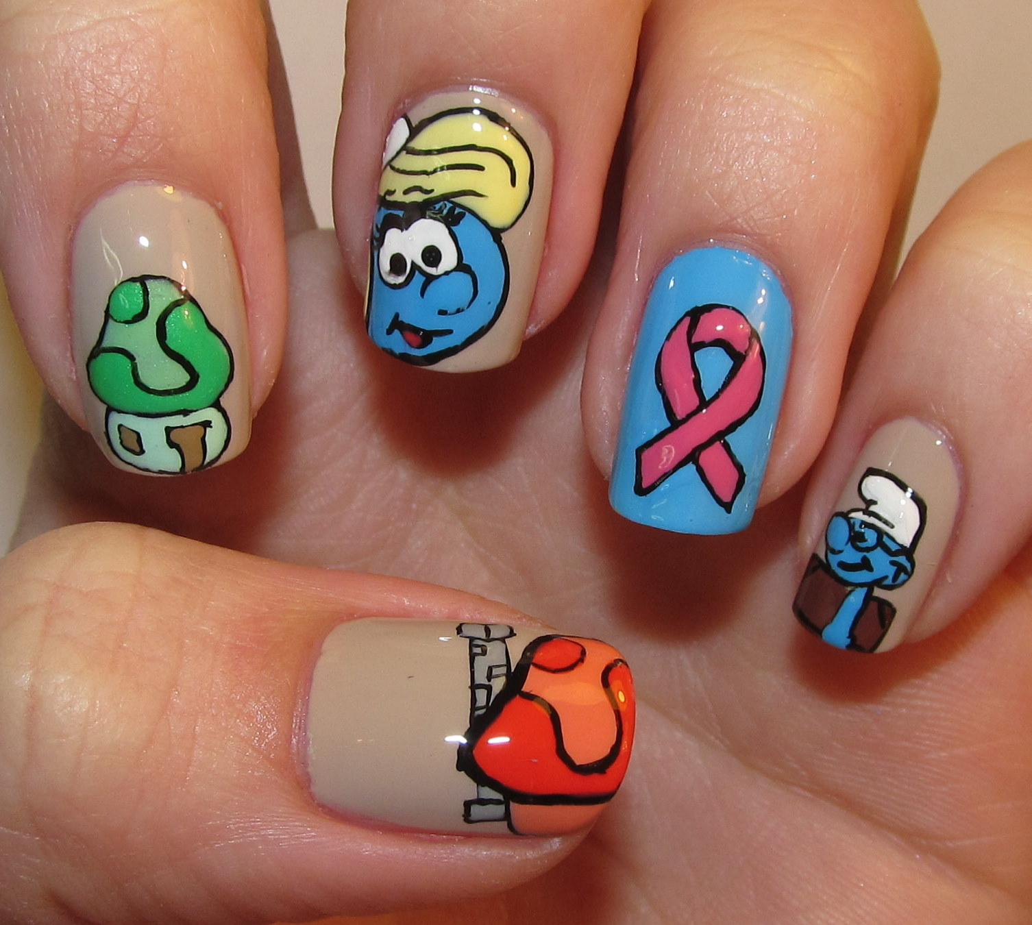 MySmurfsVillage.Com Nail Art Video