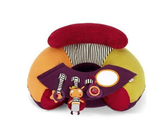 siège gonflable pour bébé avec tableau d'activités