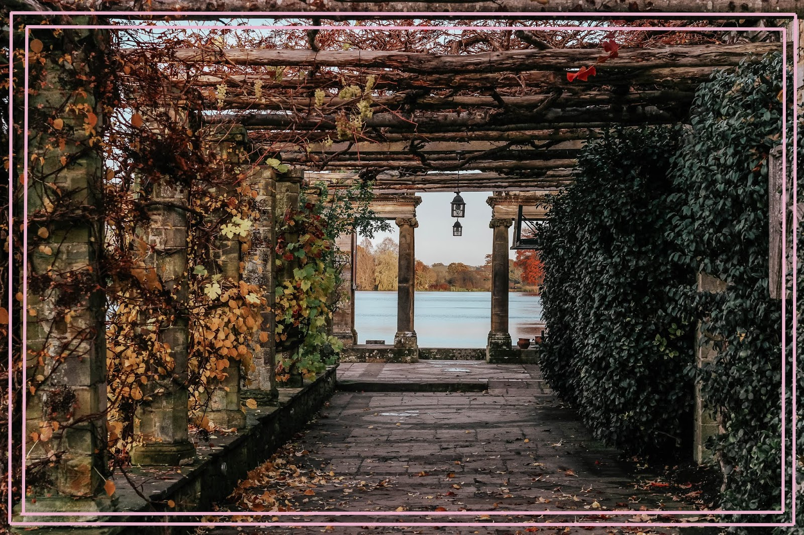 Hever Castle Italianate Garden in Autumn