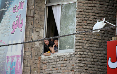 Children watching a public hanging in Iran (file photo)