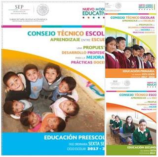 Guías de Consejo Técnico Escolar - Sexta Sesión Ordinaria