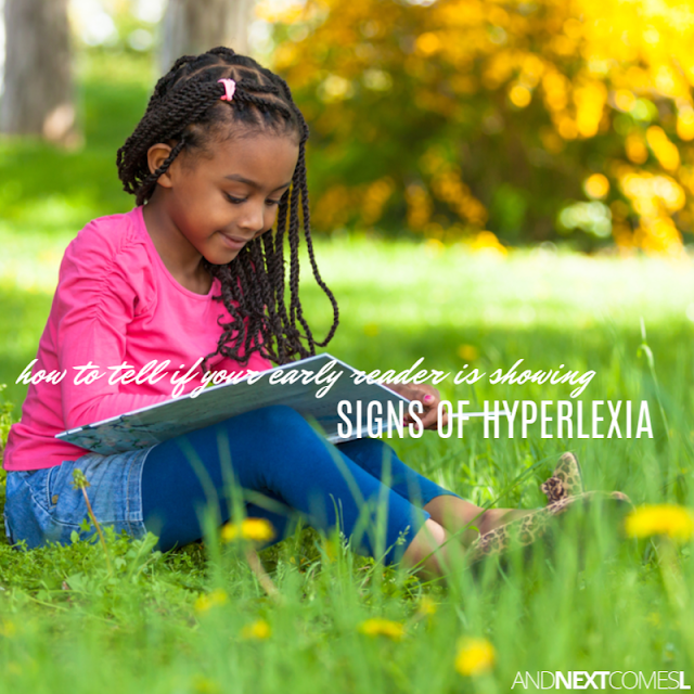 Signs of hyperlexia