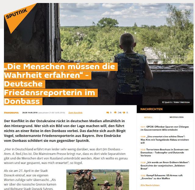 Sputnik Deutschland - Bericht über meinen Besuch in Donezk