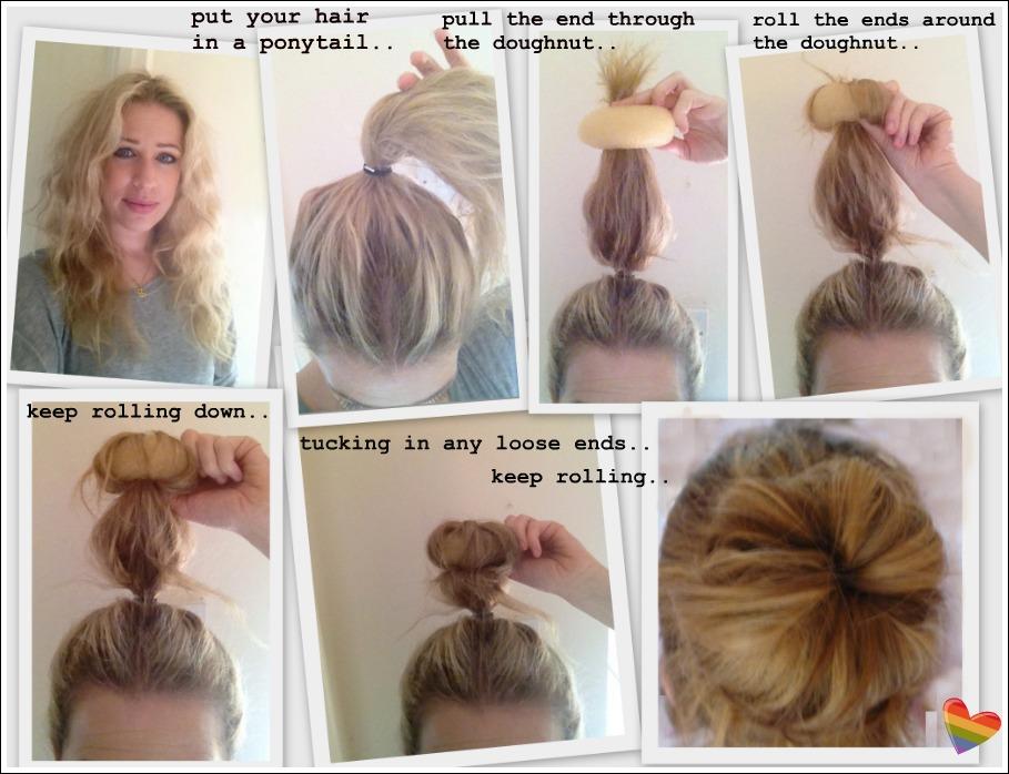 how to use a hair bun donut -#main