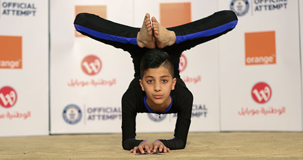 13-year-old Palestinian athlete dubbed 'Spider-Boy' breaks contortion world record