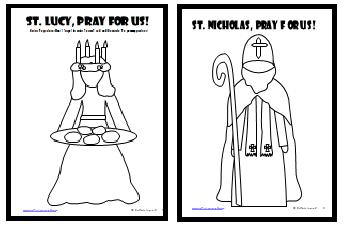 graphic regarding St Nicholas Prayer Printable called St. Lucy and St. Nicholas Printable Crafts Behavior and