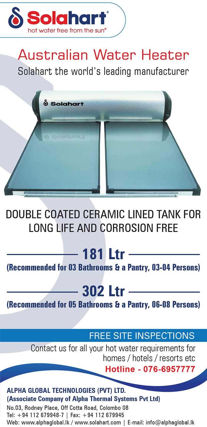 Long life and Corrosion free Solahart Australian Water Heater.