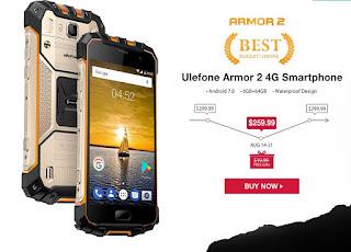 عرض وتخفيض مميز على الهاتف Ulefone Armor 2