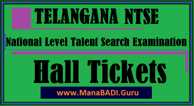 TS Scholarships, TS NTSE, National Talent Search Examination, TS Hall Tickets, www.bse.telangana.gov.in