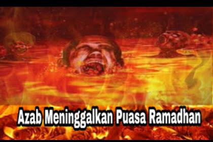 Hukum dan Azab Bagi Orang yang Tidak Puasa Ramadhan