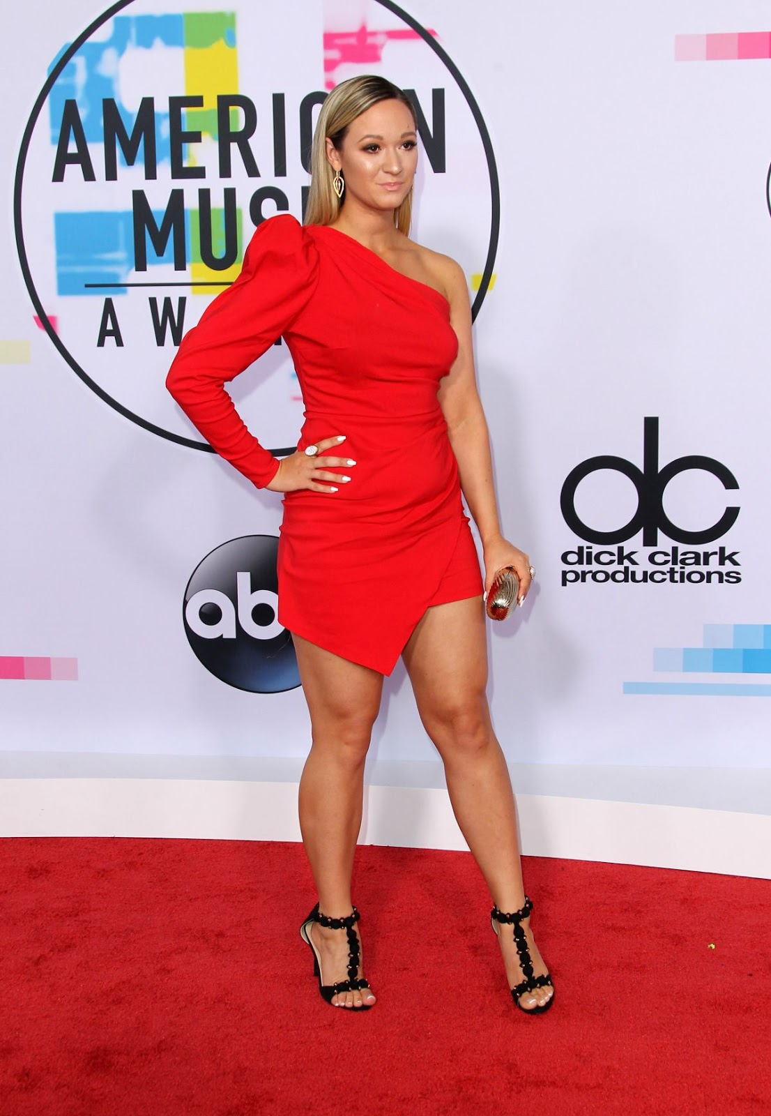 Photos of Alisha Marie at American Music Awards 2017 at Microsoft Theater in Los Angeles