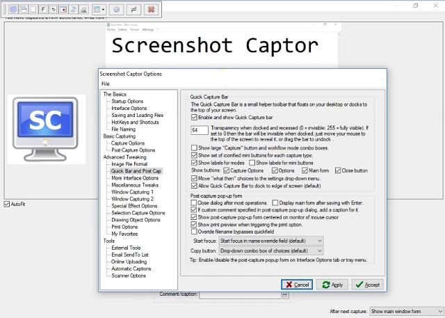 تحميل برنامج تصوير الشاشة Screenshot Captor للويندوز