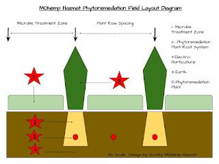 MOhemp Hazmat Phytoremediation Diagram Field Layout Treatment Train