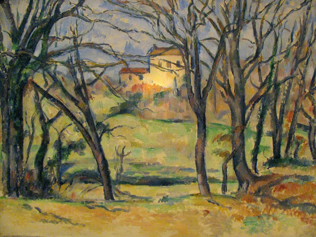 At-the-Metropolitan-Cezanne's-House-Behind-Trees-Near the-jas-de-Bouffan